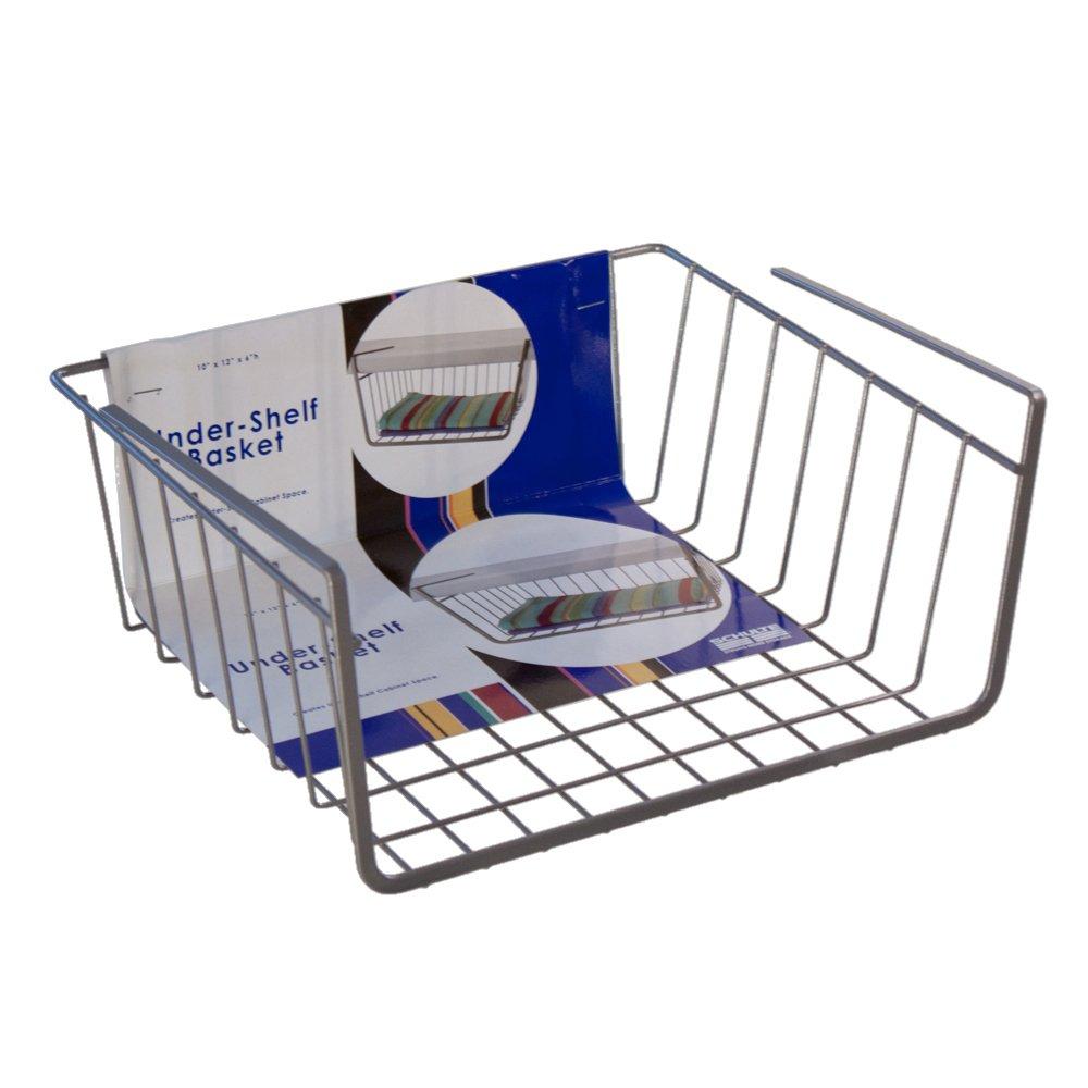 Amazon.com: Organized Living Under-Shelf Basket - White: Home & Kitchen