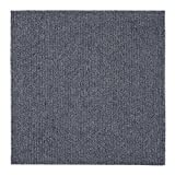Achim Home Furnishings NXCRPTSM12 Nexus 12 inch x 12 inch Self Adhesive Carpet Floor Tile, 12 Tiles/12 Sq', Smoke