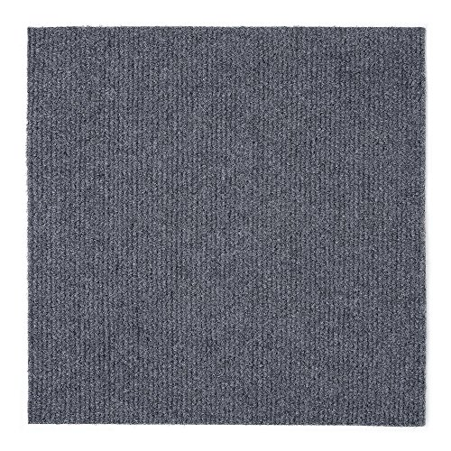 Achim Home Furnishings NXCRPTSM12 Nexus 12 inch x 12 inch Self Adhesive Carpet Floor Tile, 12 Tiles/12 Sq'., Smoke
