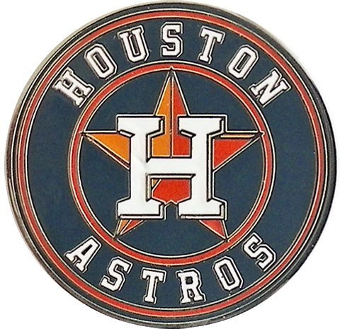 Houston Astros Jewelry Logo Pin - Round Astro Jewelry