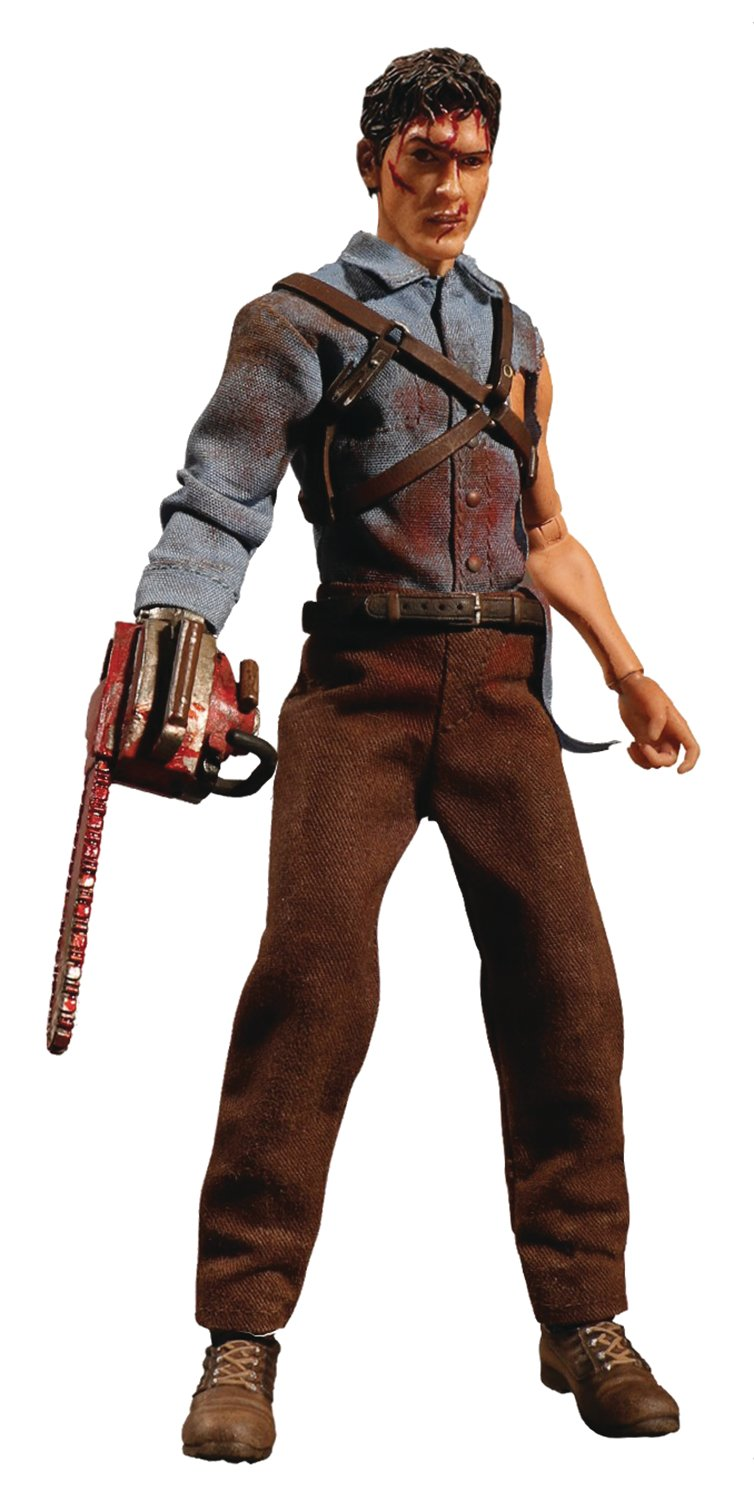amazoncom mezco toys one12 collective evil dead 2 ash williams action figure toys games