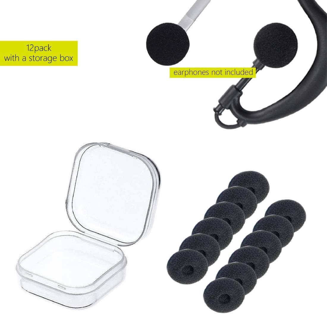 YEHTEH Foam Earbud Earpad 6 Pairs. Ear Tip Cap Protector Foam Earpad Replacement Sponge Covers Foam Covers for Two Way Radio Earpiece Headset Earphone