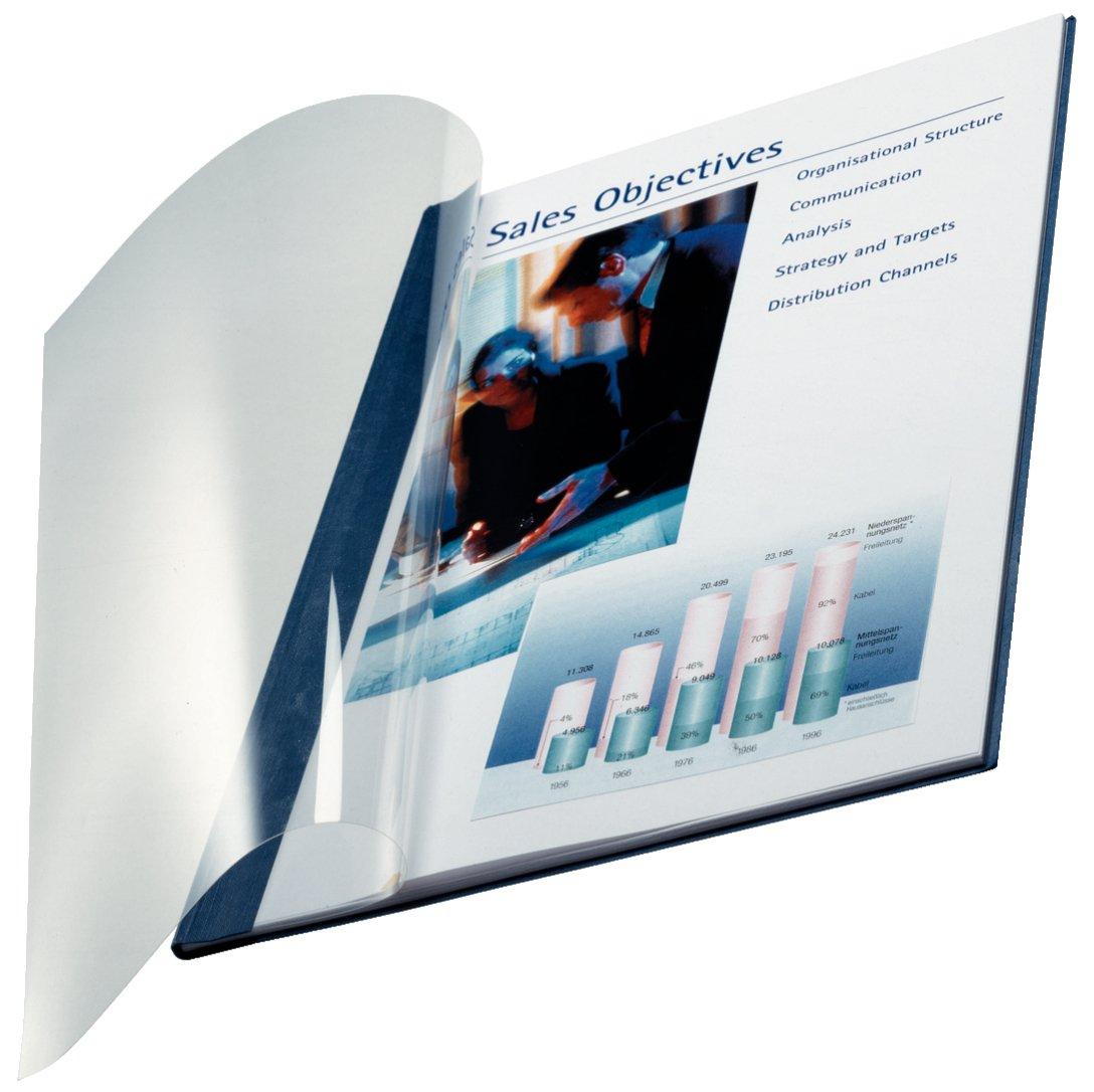 Leitz 73980035 Buchbindemappe impressBIND, Soft Cover, A4, 3,5 mm, 10 Stück, blau 10 Stück Esselte Leitz