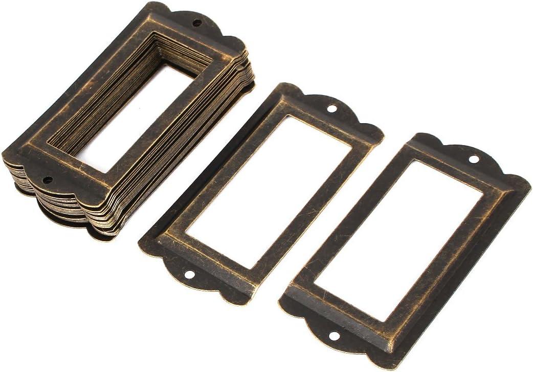 sourcingmap/® Office Biblioth/èque 85 x 42mm Porte-/étiquette tag tiroir ton bronze 20pcs