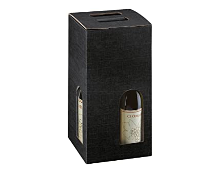 Black Wine Bottle Gift Box For 4 Bottles Gift Wrap Bottle Bags