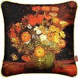 HOMEE Hundreds of Colorful Flower Paintings Fabrics - Art Cushion Creative Pillow Pillow Back Lumbar Pillow Sleeping Pillow ,46X46Cm,H37 Lunch,H13,40X40cm