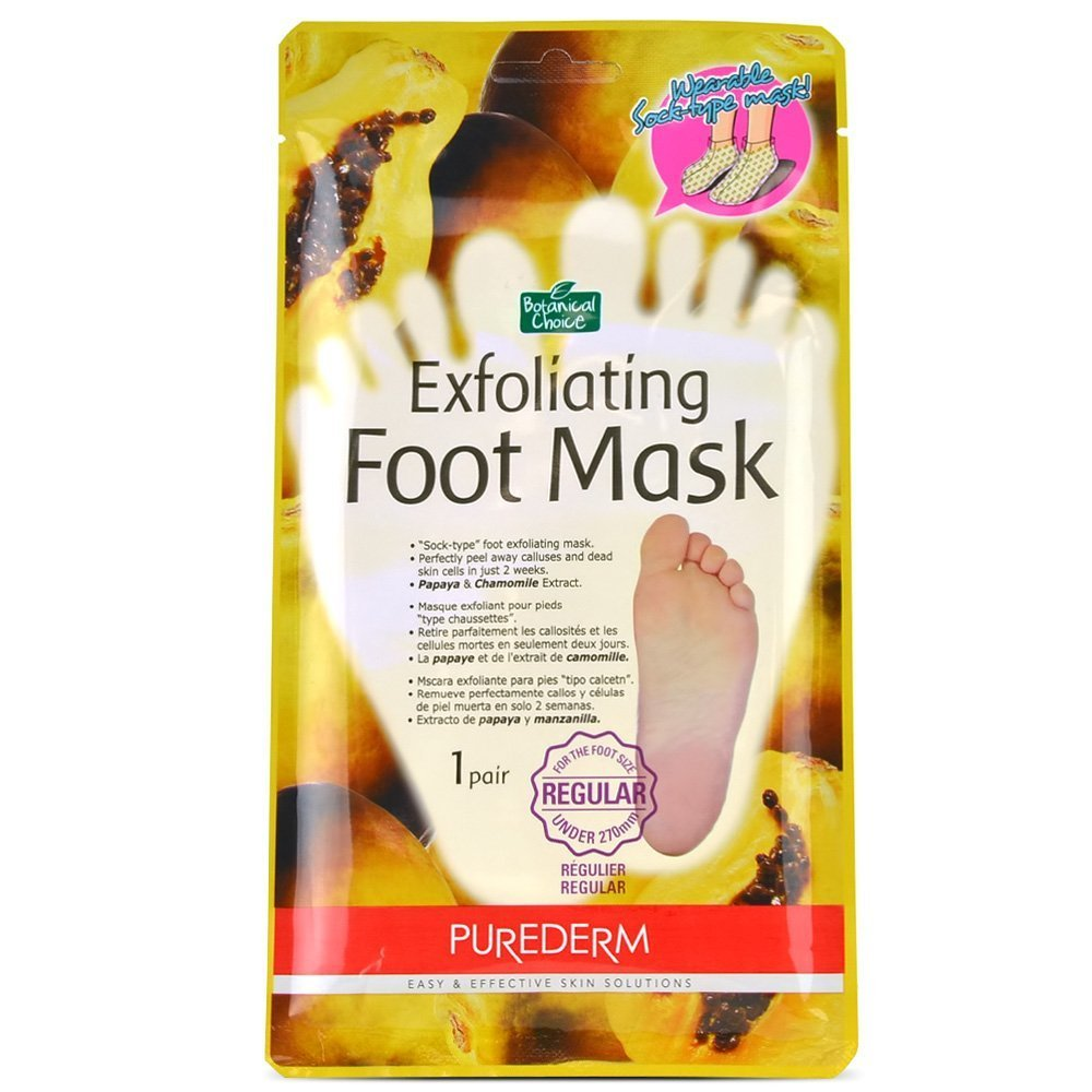 Purederm Exfoliating Foot Mask – Peels away Calluses and Dead Skin in 2 settimane. (1 pezzi, regular) by Purecos