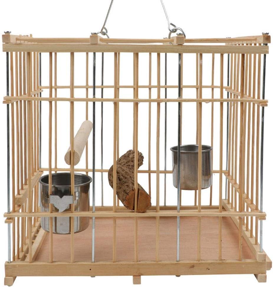 Love lamp Cama Impermeable para Mascotas Exquisito Jaula de pájaros pequeños Jaula de Loros Paloma Jaula Cuadrado Bambú Suave y sin puñaladas Fuerte y no deformada Suministros De Mascotas