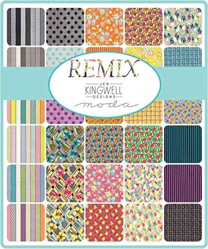 Remix Mini Charm Pack por Jen Kingwell; Cuadrados de tela precortada de 42 a 2,5 cm: Amazon.es: Amazon.es
