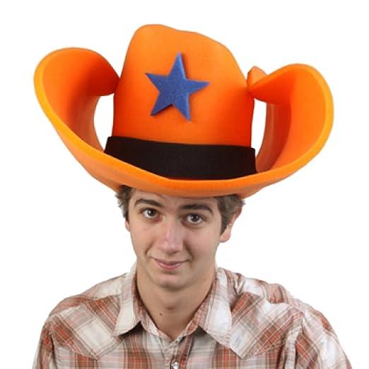 Amazon.com  Clown Antics Super Size 50 Gallon Cowboy Hats - Orange ... 01a2fcdcd70