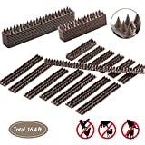 Sendaw Defender Birds Spikes, Bird Repellent Anti-climb Security Spikes to Prevent Birds, Cat Small Animals from Entering Your Yard Security Fence, Railing, Walls Roof