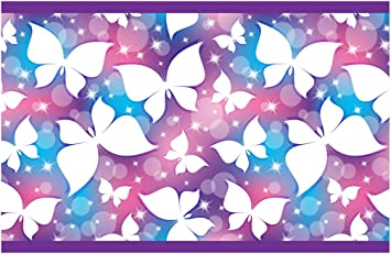 Kinderzimmer Bordüre Borte Schmetterlinge Wanddekoration Kinder  selbstklebend