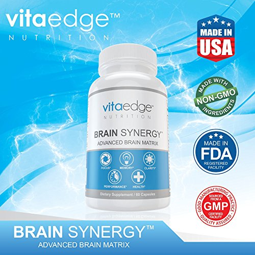 VITAEDGE Brain Supplement - All Natural Nootropic Pills for Memory, Focus, Clarity and Concentration - Formulated with Dmae, Gaba, Green Tea Extract, Bacopa Monnieri for Women or Men by VITAEDGE NUTRITION (Image #2)