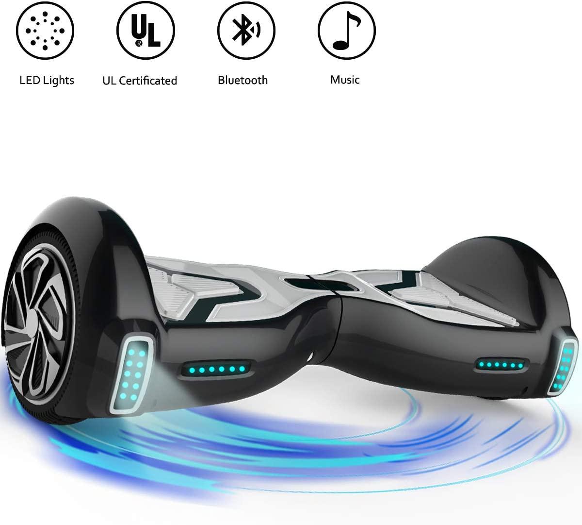 TOMOLOO Hoverboard for Kids and Adult, 6.5 Two Wheels App Controlled Electric Self Balancing Scooter UL2272 Certified