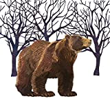Paperproducts Design 3331705 Lunch Napkin with Exquisite Winter Bear Design by Two Can Art, 6.5 x 6.5'', Brown