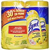 Lysol Disinfecting Surface Wipes, Value Pack (2x80), Citrus, 160 Count