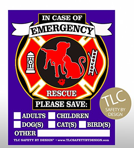 RESCUE Safety Emergency Behind Sticker product image
