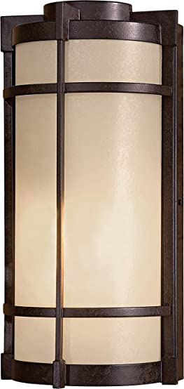 Minka Lavery 72020-A179 Andrita Court Pearl Mist Glass Outdoor Wall Sconce Wall Mount Fixture