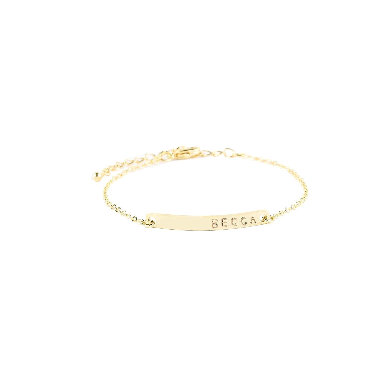 Gift For Baby Custom Text Bracelet -Name Bracelet for Her Custom Name Bracelet Personalized Handwriting Bracelet Mother/'s Day Gifts