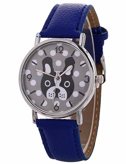Animal Patrón relojes para las mujeres, Cooki Unique analógico Lady relojes Cartoon perro hembra de relojes venta Casual Relojes de muñeca para mujer cómodo ...