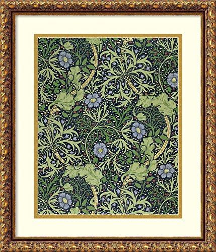 Madison Florals Wallpaper - Framed Art Print 'Seaweed Wallpaper Design, Printed by John Henry Dearle, 1901' by William Morris