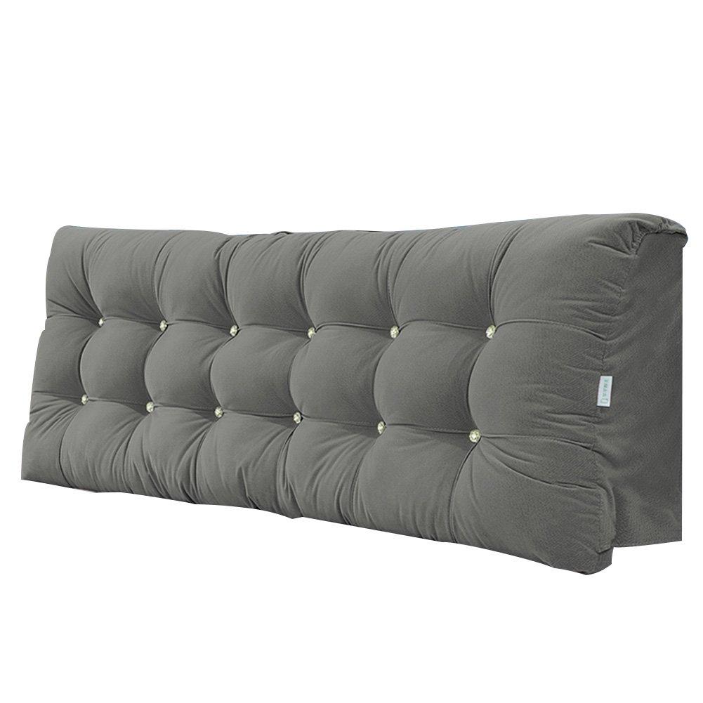 PENGFEI クッションベッドの背もたれ ベッドサイドソフトパック バックピロー 寝室 読書 ホテル 防水 防汚 ファブリック、 ヘッドボード使用のベッドに適しています 6色、 4サイズ (色 : Gray, サイズ さいず : 150X58X15CM) B07F5PBKP3 150X58X15CM|Gray Gray 150X58X15CM