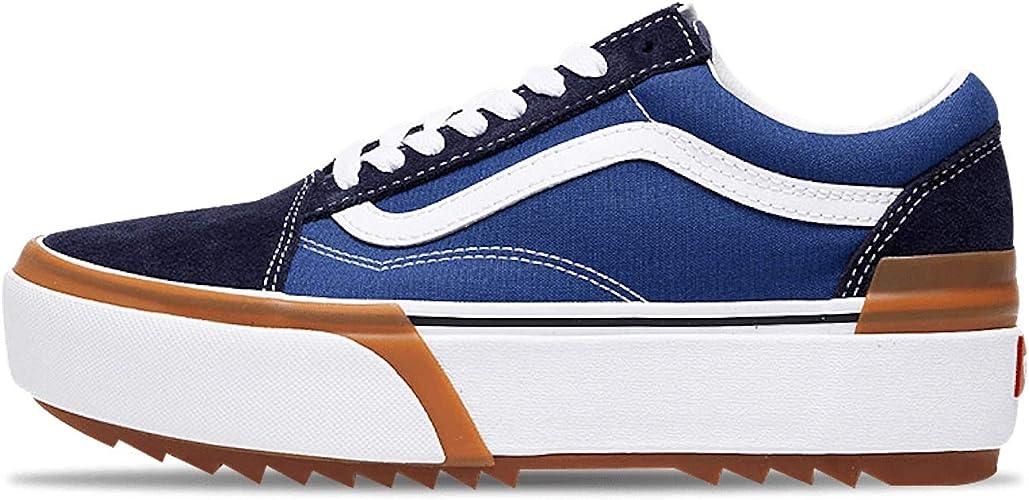 Vans Old Skool Tracked - Bleu - bleu, 39 EU EU: Amazon.fr ...