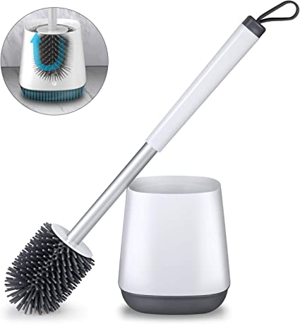 Toilet Brush /& Cylindrical Holder Bathroom Bath Cleaning Set Home Office