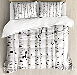 Best Art Groves Of Birch Trees - Ambesonne Birch Tree Duvet Cover Set Queen Size Review
