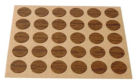 Brinox B77900Z Embellecedor cubre-tornillos adhesivo Madera Sapeli Set de 30 Piezas