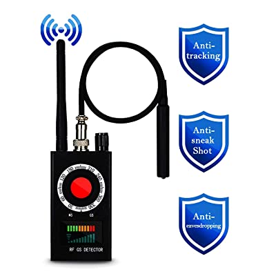 Anti Spy Detector, RF Detector, Camera Finder, Bug Detector, RF Signal Detector, Wireless Audio Bug Hidden Camera Detector Laser Lens GSM Finder Listening Device Finder Wireless Signal Alarm Audio Spy: Electronics