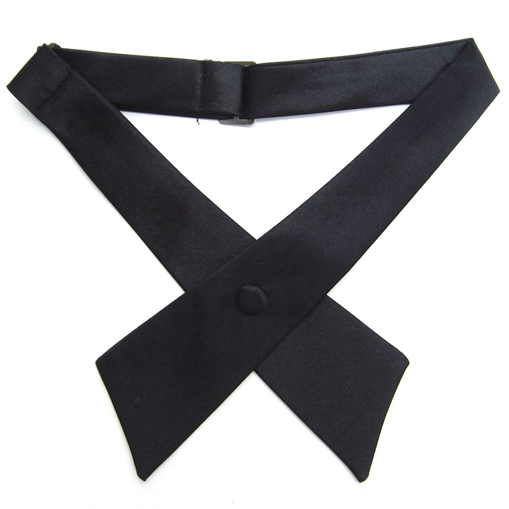 TopTie Criss-Cross Tie, Girls' School Uniform Cross Tie-Black