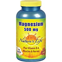 Natures Life® Magnesium Capsules, 500mg | High Potency Magnesium Supplement Plus Vitamin B-