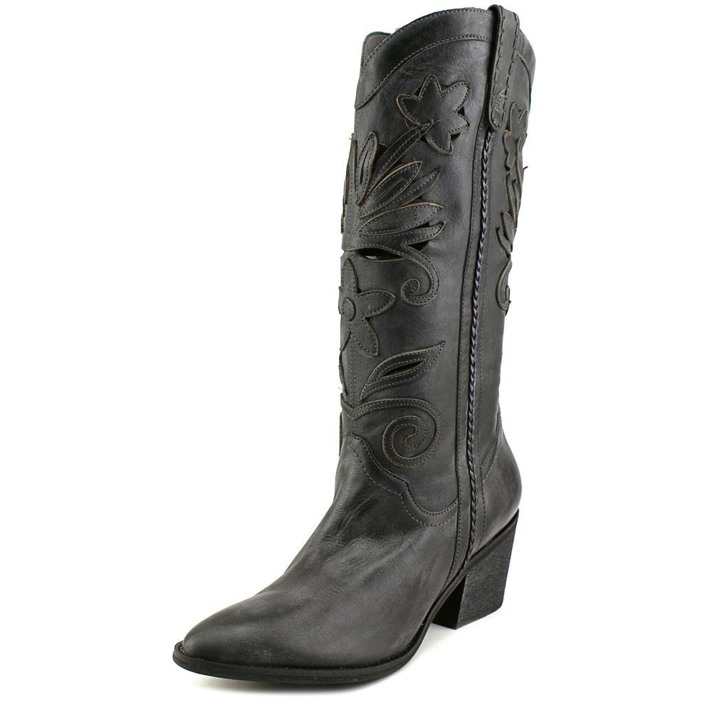 Carlos by Carlo Santana Womens Ace Leather Closed Toe Mid-Calf Cowboy Boots B01DK9QBK0 10 B(M) US|Grey
