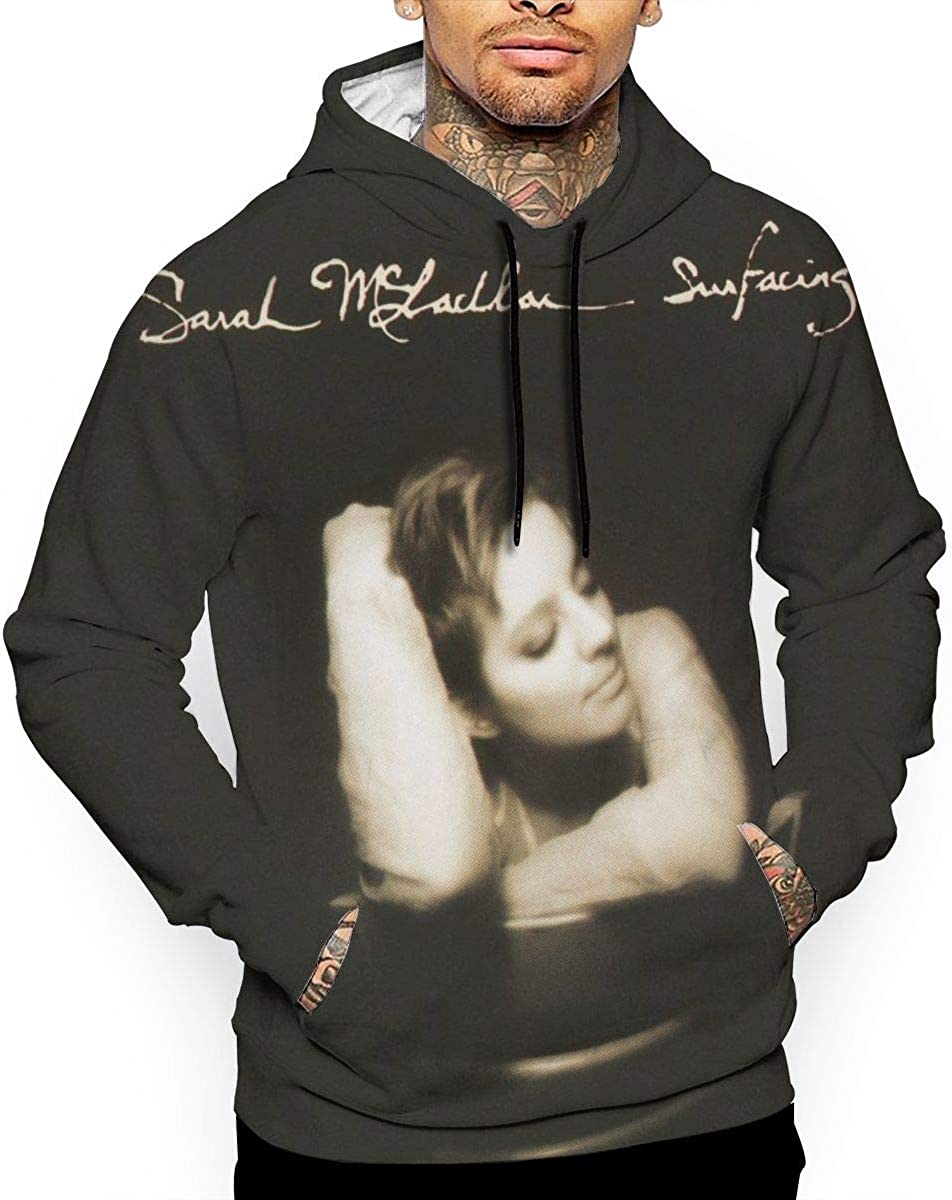 Cantrell Michael Sarah McLachlan Surfacing Mens Long Sleeve Hooded Sweatshirt White