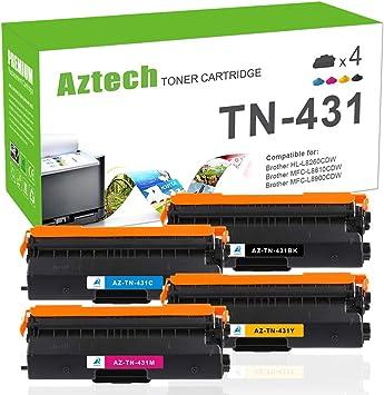 2-Pack Yellow Compatible High Yield TN431 TN431Y Toner Cartridge use for Brother HL-L8260CDW HL-L8360CDW HL-L8360CDWT MFC-L8610CDW MFC-L8900CDW Series Printer