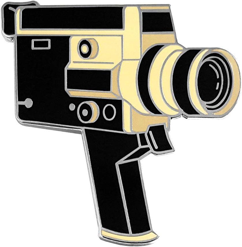 Pinsanity Retro Video Camera Enamel Lapel Pin