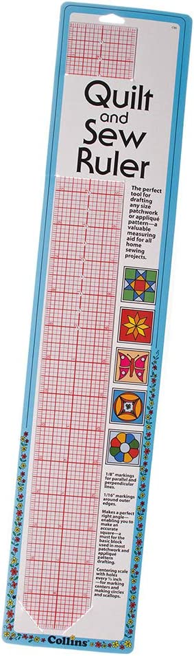 Clear West Coast Paracord Quilt and Sew Ruler Made from Flexible Plastic Laminated Markings for Precise Measuring