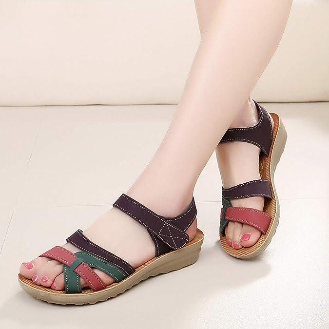Sandales pour Femme Multicolore Multicolore 40 Liqiqi