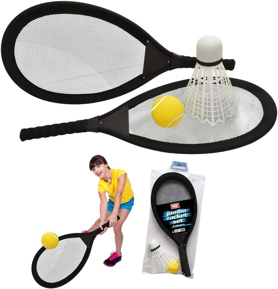 TOYLAND Raquetas de bádminton de Tenis de 65 cm con Volante y Pelota de Tenis