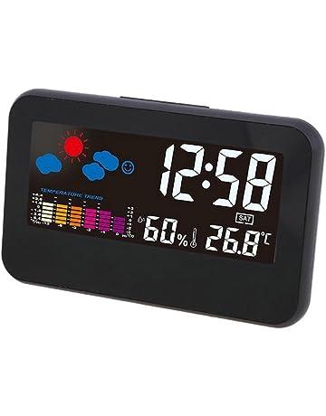 GuDoQi Relojes Despertador Digital Relojes De Escritorio Luz De Fondo Despertadores De Viaje Control De Voz