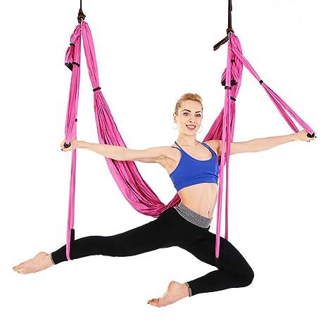 Spotplt Yoga aéreo Hamaca voladora Juego de Seda Cama de ...