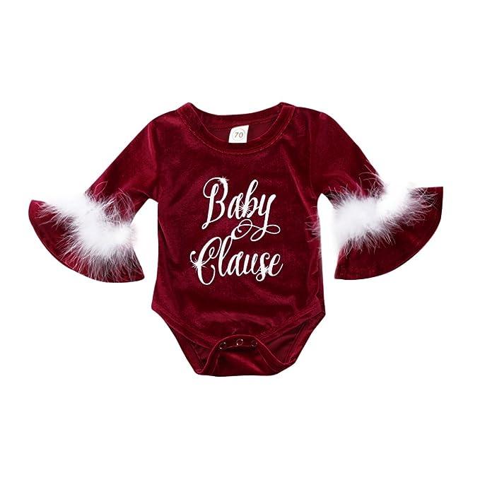 Amazon.com: emmababy Navidad Santa Baby Kids Niñas de Papá ...