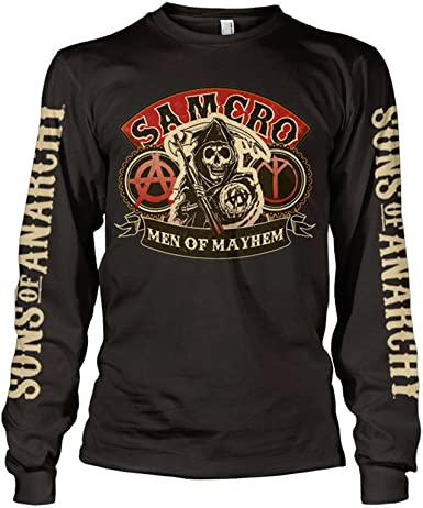 Sons Of Anarchy Black Redwood Original Long Sleeved Top Womens TV Show Apparel