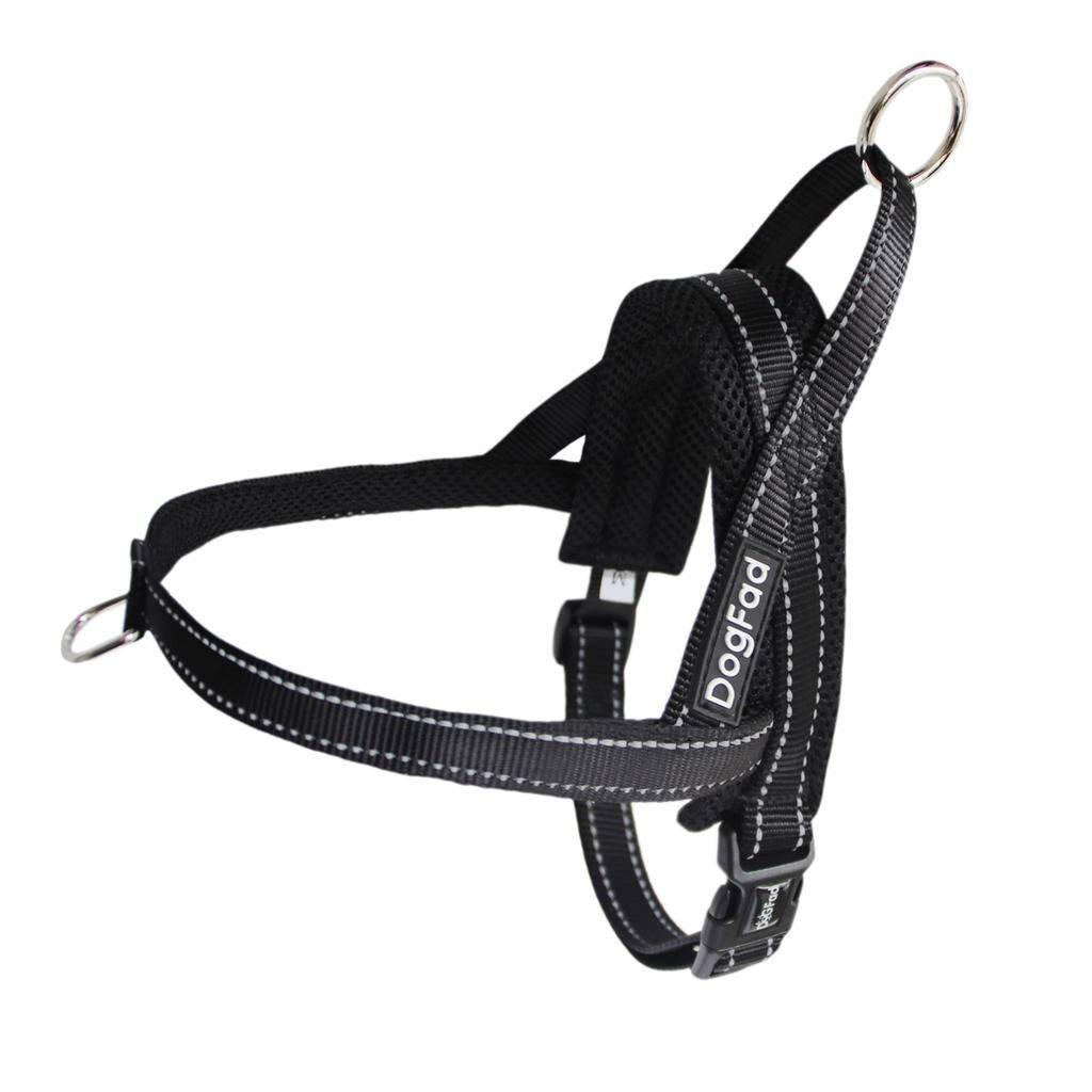 DogFad No-Pull Dog Harness(S,Black)
