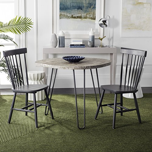 Safavieh American Homes Collection Parker Country Farmhouse Charcoal Grey Spindle Side Chair (Set of (American Windsor Dining Chair)