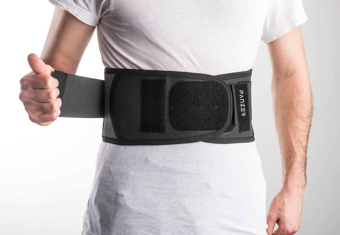 sportives et ludiques Ceinture de protection lombaire LumboFit Bandage dorsal unisexe. Pour les activit/és en moto Syst/ème de protection int/égr/é