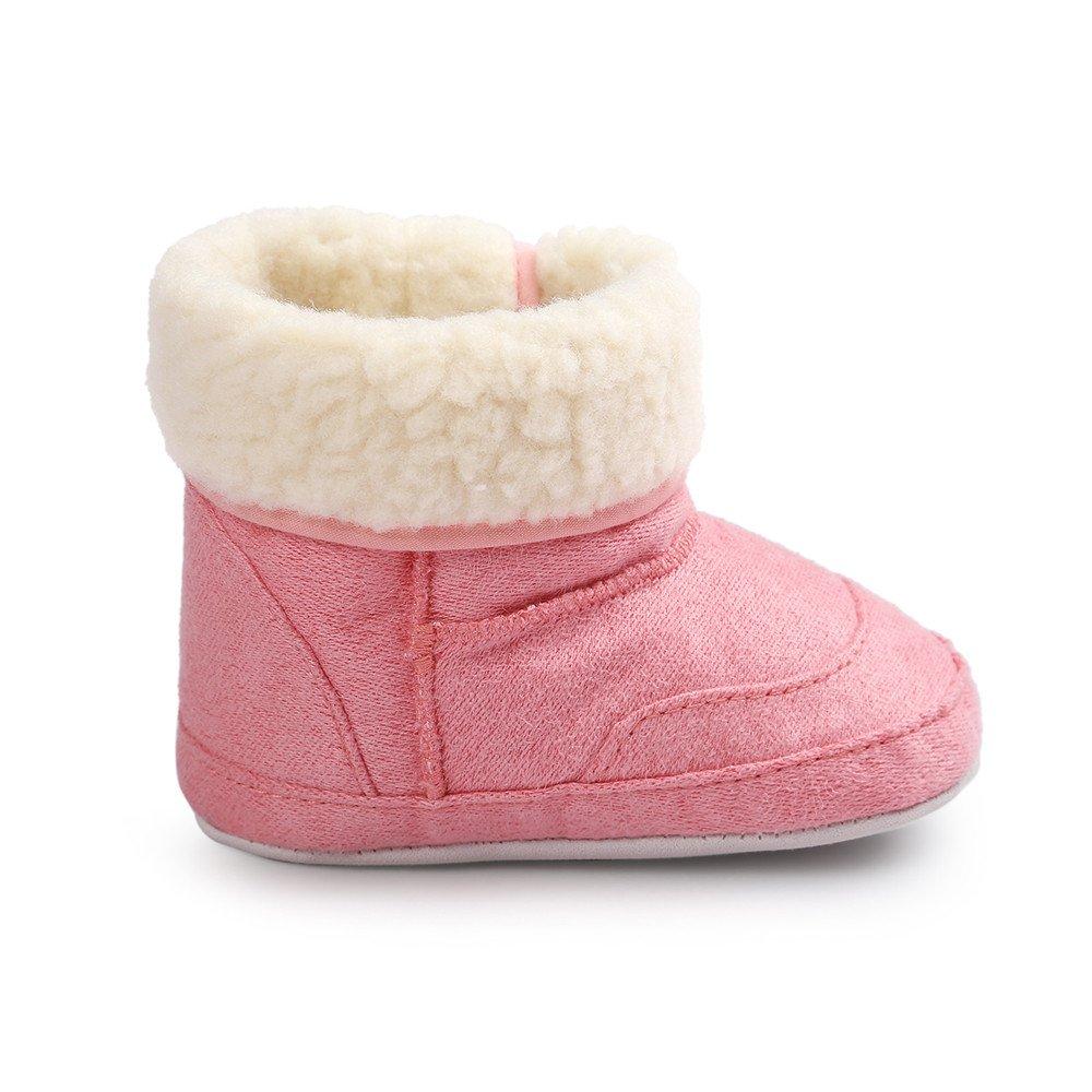 Lanhui Newborn Baby Warm Soft Sole Snow Boots Soft Crib Shoes Toddler Boots