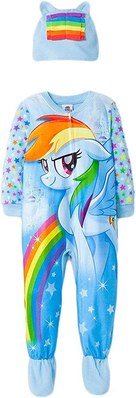 My Little Pony Infant Baby Toddler Onesie Footed Pajama with Cap