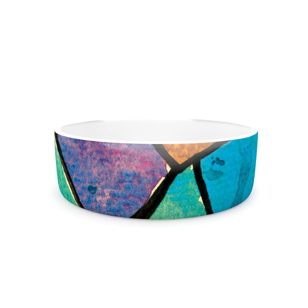 Kess InHouse Theresa Giolzetti Stain Glass 2  Pet Bowl, 7-Inch